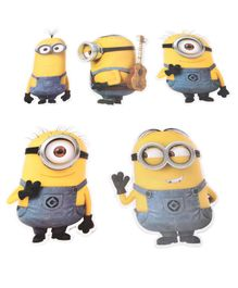 Karmallys Despicable Me Minion Cut Out Yellow - Pack Of 5