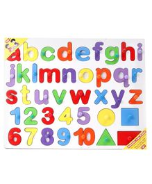 Anindita Wooden English Small Alphabets Puzzle -  Multicolor