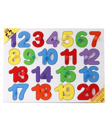 Anindita Wooden 1 to 20 Numbers Puzzle Multicolor - 21 Pieces