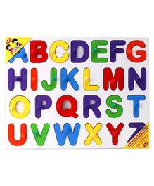 Anindita Wooden English Capital Alphabets Big Size Puzzle Multicolor - 27 Pieces