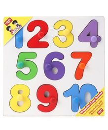 Anindita Wooden Number Puzzle Multicolor - 10 Pieces