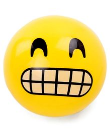 Emoji Print PVC Soft Ball - Yellow (Print May Vary)