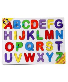 Anindita Wooden English Capital Alphabets Puzzle Multicolor - 26 Pieces