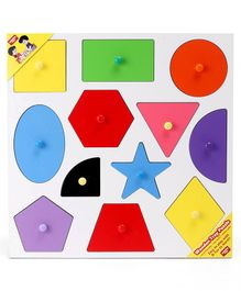 Anindita Wooden Shape Sorter Puzzle Multicolor - 12 Pieces