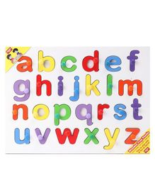Anindita Wooden Small Alphabets Puzzle -  Multicolor