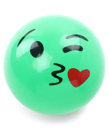 Emoji Print PVC Soft Ball - Green (Print May Vary)
