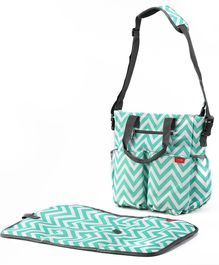 LuvLap Adore Diaper Bag With Changing Mat - Blue