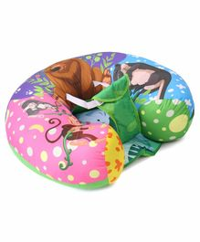 U Shaped Feeding Pillow Animal Print - Multicolor