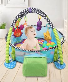 Baby Ball Pit Cum Play Gym With 30 Balls - Multicolour