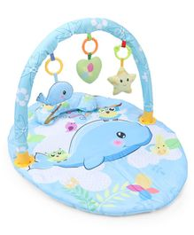 Baby Comfort Play Gym With Dolphin Print Mat - Blue