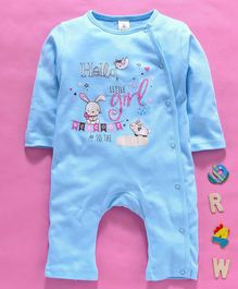 Baby Naturelle & Me Full Sleeves Romper Bunny Print - Blue