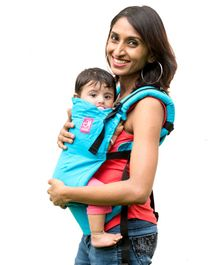 Anmol Baby 2 Way Carrier Basic Handwoven - Light Blue