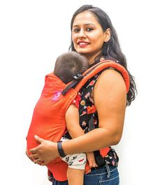 Anmol Baby 2 Way Carrier Basic Handwoven - Orange
