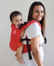Anmol Baby 2 Way Carrier Basic Handwoven - Red
