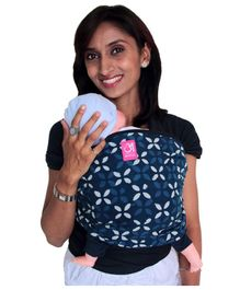 Anmol Baby Carrier Safed Phool Hybrid Wrap - Blue