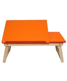 Sattva Portable Folding Double Study Table - Orange