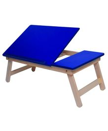 Sattva Portable Folding Double Study Table - Blue