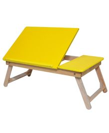 Sattva Portable Folding Double Study Table - Yellow