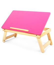Sattva Portable Folding Study Table - Pink