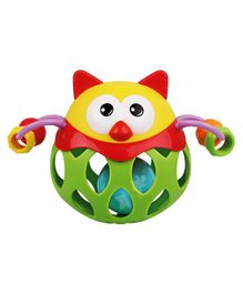 Ladybug Ball Owl Shaped Baby Rattle Multicolor - 12 cm