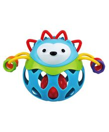 Ladybug Ball Hedgehog Shaped Baby Rattle Multicolour - 13 cm