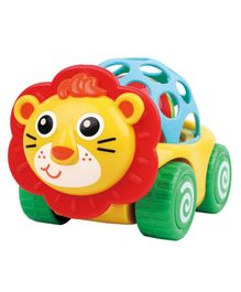 Ladybug Lion Car Shaped Rattle - Multicolour