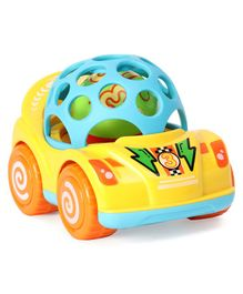 Ladybug Racing Car Shaped Rattle - Yellow