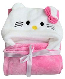My NewBorn All Season 2 in 1 Baby Wrapper And Blanket - Pink & White