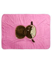 Softbuddies Doll Face Blanket - Pink