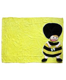 Softbuddies Doll Embedded Blanket - Yellow & Black