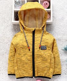 Little Kangaroos Full Sleeves Hooded Sweat Jacket - Yellow