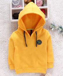 Little Kangaroos Full Sleeves Hooded Sweatshirt - Yellow