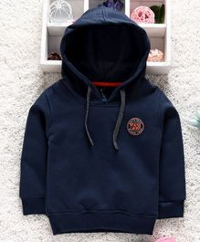 Little Kangaroos Full Sleeves Hooded Sweatshirt - Navy Blue