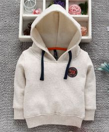 Little Kangaroos Full Sleeves Hooded Sweatshirt - Off White