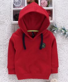 Little Kangaroos Full Sleeves Hooded Sweatshirt - Red