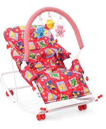 New Natraj Rocko Swing With Toys Animal & Star Print - Red
