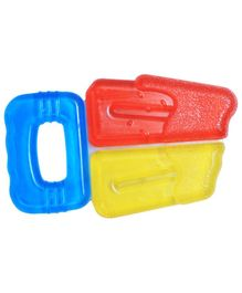 1st Step BPA Free Ice Cream Shaped Water Filled Teether - Red Yellow Blue