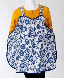 Babyhug Multi Purpose 100 % Cotton Breast Feeding Nursing Cape Floral Print - Blue