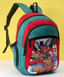 DC Comics Justice League School Bag Green - Height 16 inches