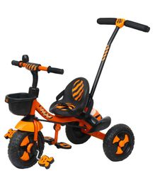 Luusa Rx 500 Tricycle With Parent Push Handle & Safety Belt - Orange Black