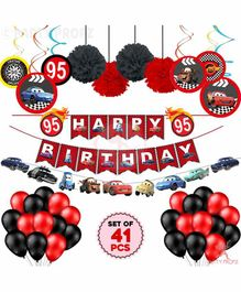 Party Propz Happy Birthday Car Theme Decoration Combo - Multicolor