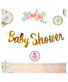 Party Propz Baby Shower String Banner - Golden