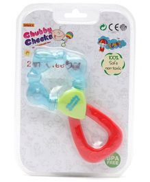 Sunny 2 in 1 Easy to Grip Water Filled Teether - Blue Green & Red