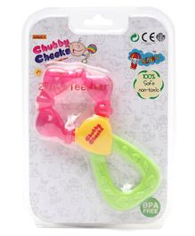 Sunny 2 in 1 Easy to Grip Water Filled Teether - Pink Green & Yellow