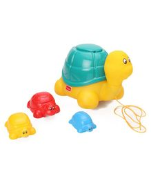 Giggles Ride & Hide  Pack of 4 Turtles - Multicolor