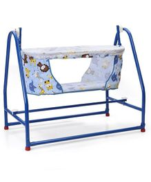 Mothertouch Nest Cradle Animal Print - Blue