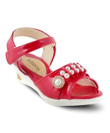 Kittens Shoes Pearl Detailed Sandals - Red