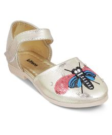 Kittens Shoes Sequin Dragonfly Velcro Closure Mary Jane - Gold