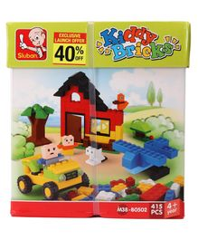 Sluban Kiddy bricks Boys Blocks Game Multicolor - 415 Pieces