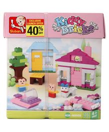Sluban Kiddy Bricks Girls Blocks Game Multicolor - 415 Pieces